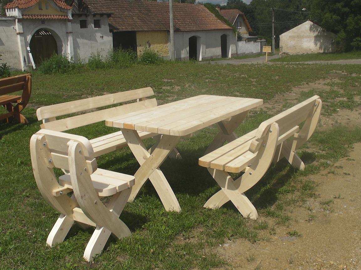 Dřevěný zahradní nábytek z masivu sestava Rainbach II - barvená